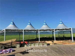 新疆禾木山庄篝火俱乐部膜结构看台