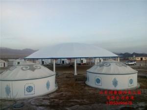 青海篝火晚会蒙古包景观膜结构