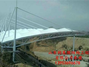 山西临汾曲沃县红色基地膜结构看台