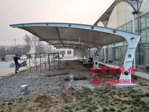 东营多肉园膜结构停车棚