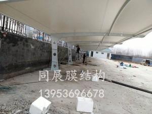 青州鑫和温室公司膜结构停车棚
